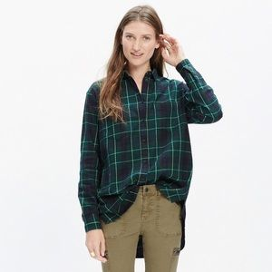 Madewell Tops - EUC Madewell Oversized boyshirt in Irwin plaid
